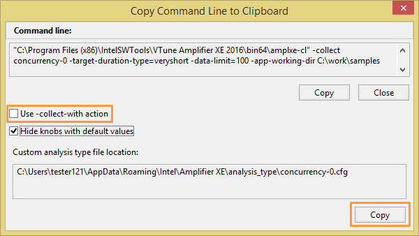 Generating Command Line Configuration From Gui
